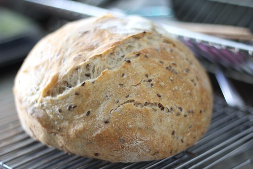Flax Seed and Oat Sourdough