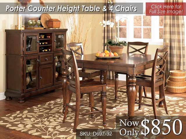 Porter Counter Height 4 Chairs
