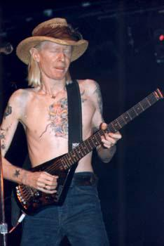 Johnny Winter with Erlewine Lazer