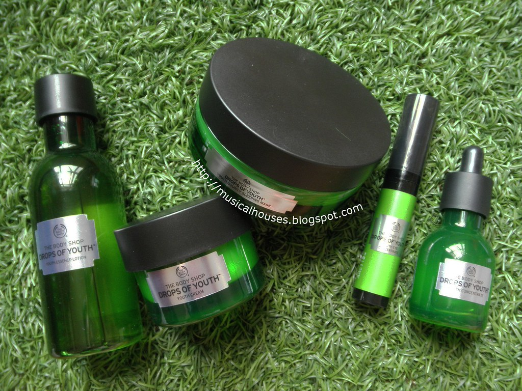 The Body Shop Drops of Youth Essence Lotion Youth Concentrate Eye Cream Bouncy Sleeping Mask