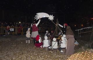 Representación navideña en el barrio Los Pitufos