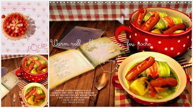 Warm roll cabbage pot-au-feupoche