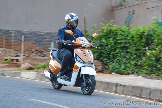 Mahindra Gusto 125 Test Drive review-27