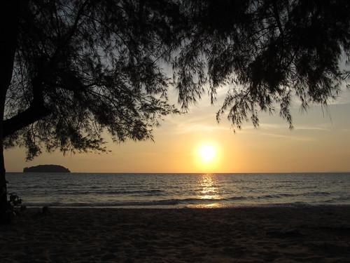 Sihanoukville: deuxième coucher de soleil à Otres Beach