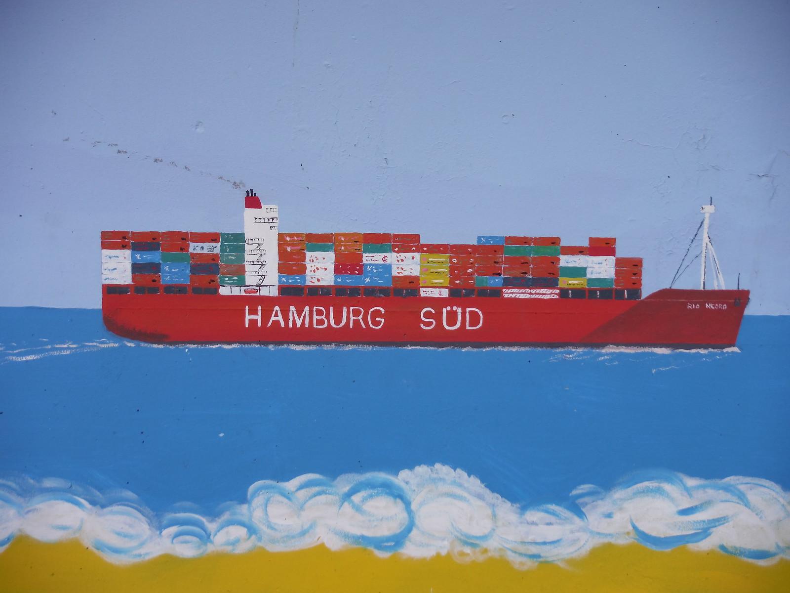 Hamburg-Süd mural, Concord Beach, Canvey Island SWC Walk 258 Benfleet Circular (via Canvey Island)