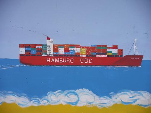 Hamburg-Süd mural, Concord Beach, Canvey Island