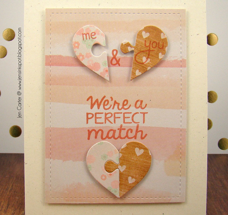 Jen Carter Perfect Match Puzzle Watercolor Closeup
