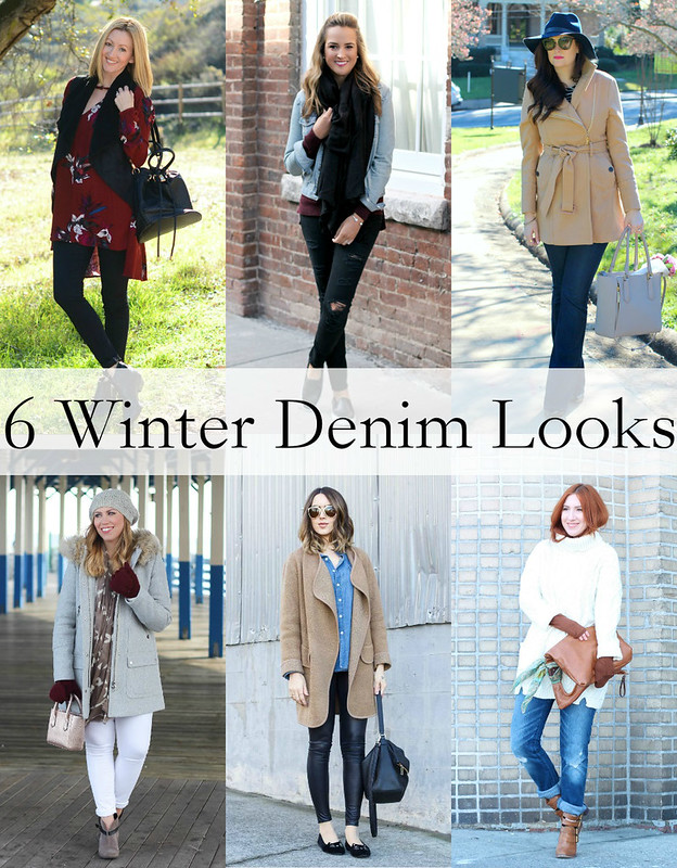 6 Winter Denim Outfits