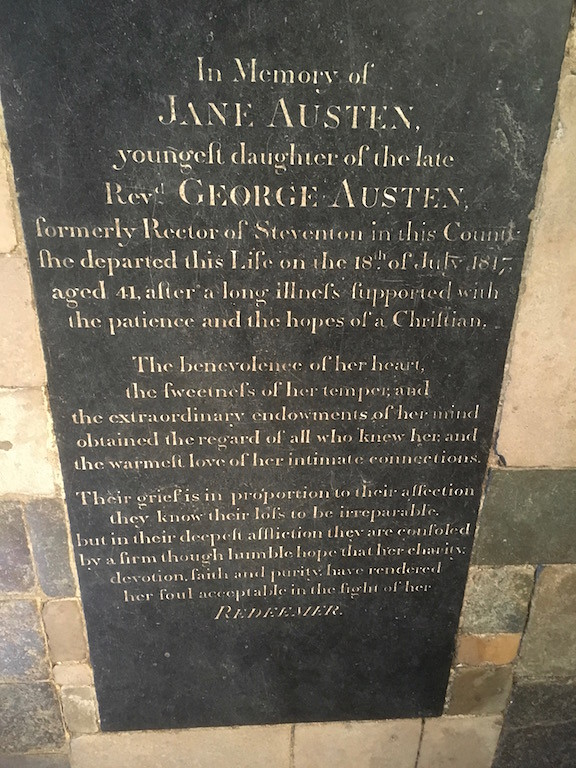 Jane's tomb, Winchester Cathedral