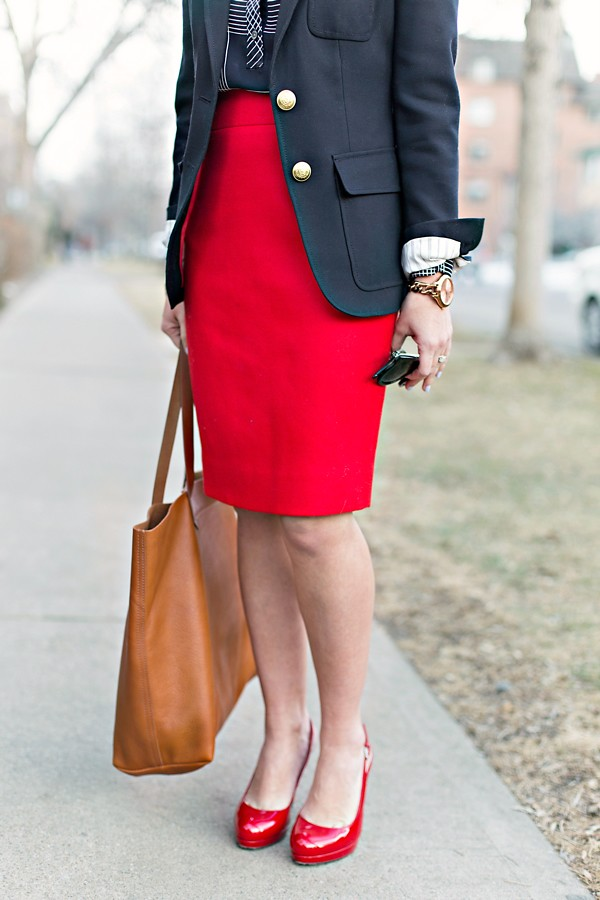 J Crew No 2 Pencil Skirt + LK Bennett Heels