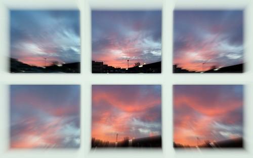Amanecer en seis imágenes y zoom