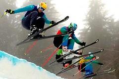 Skicross na Tanvaldském Špičáku s účastí Tomáše Krause