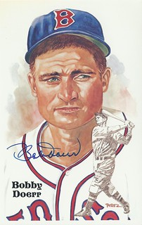1987 Perez-Steele HOF Postcards - Bobby Doerr #194 (Second Base) (Hall of Fame 1986) - Autographed Baseball Card (Boston Red Sox)