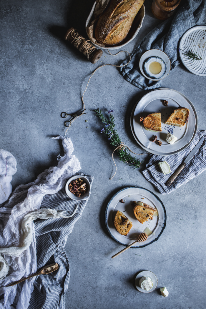 Honey, Rosemary, Walnut, & Bijou Grilled Cheese by Eva Kosmas Flores | Adventures in Cooking
