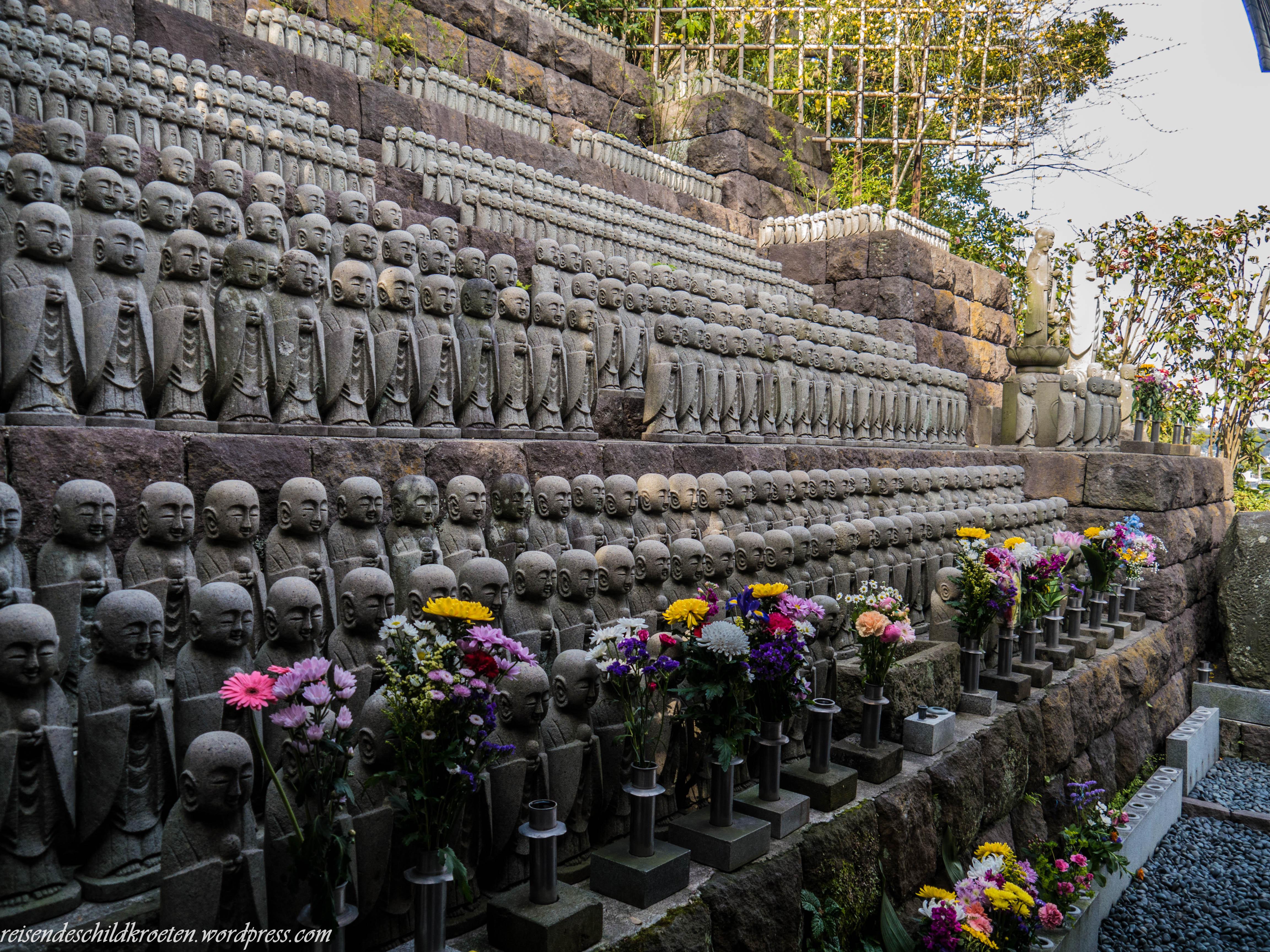Jizō statues in Hase-dera