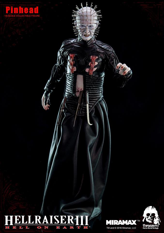 threezero 養鬼吃人3【針頭人】Hellraiser III: Hell on Earth Pinhead 1/6 比例人偶作品