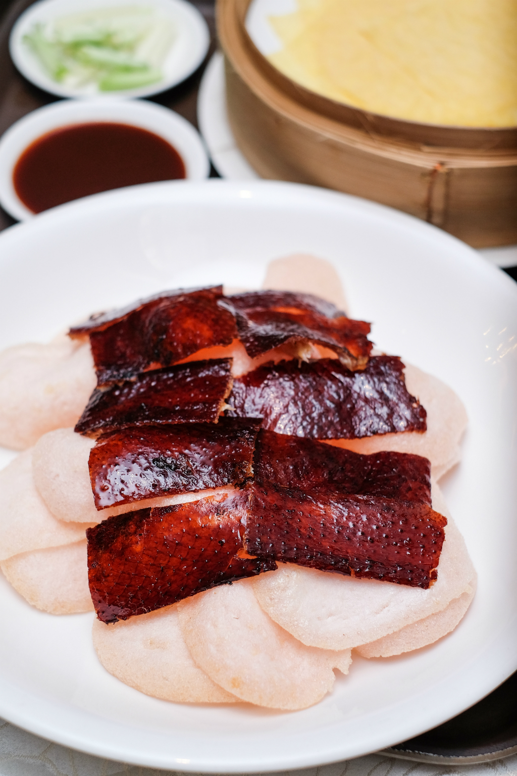 Wah Lok Cantonese Restaurant Peking duck Skin with Prawn Crackers