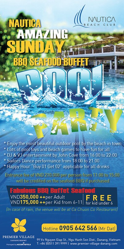 Nautica amazing Sunday pool party100x200mm-01