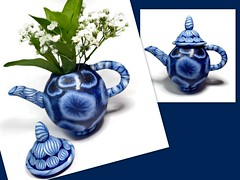 polymer clay Miniature Collectible Teapot