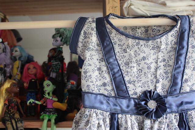 Corsage de la robe pour petite tille, modèle Delft