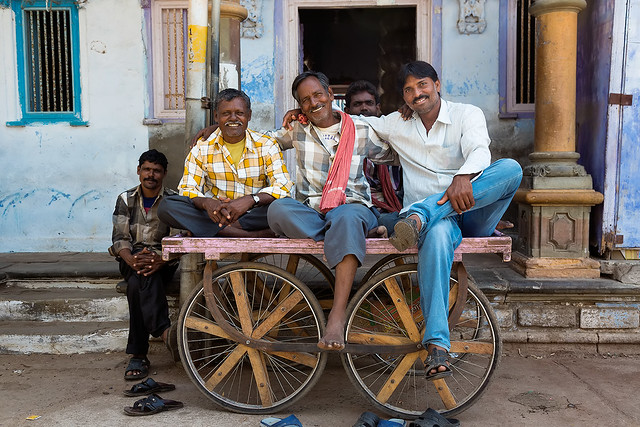 A groupe of men in Bhuj, Gujarat, India.