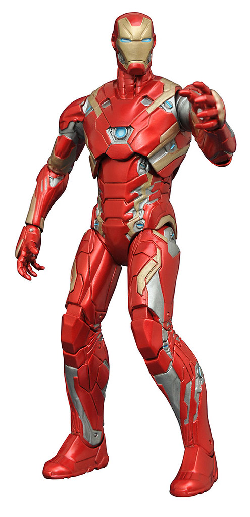 Marvel Select 美國隊長3:英雄內戰系列【鋼鐵人馬克46】Iron Man Mark XLVI 8 吋人偶作品