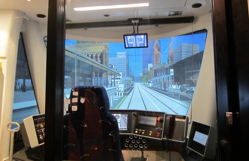 Tram simulator, Preston tram depot