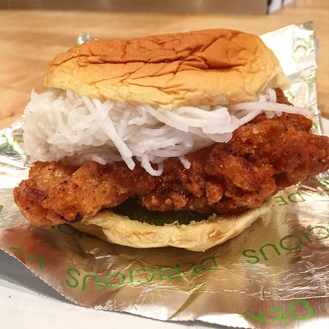I finally caved - Koreano Chicken Sandwich. Quite delicious.