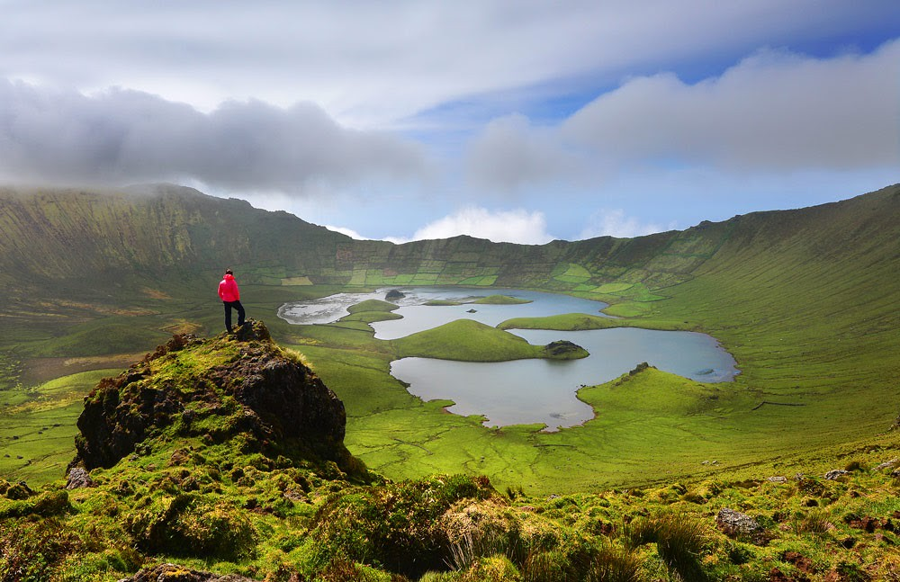 Corvo island, Azores.