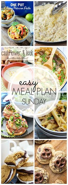 Week 40. Collaborative weekly meal planning. 9 bloggers. 6 dinner ideas, one-weekend breakfast plus 2 desserts every single week equals one heck of a delicious menu!