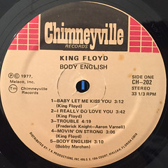 KING FLOYD:BODY ENGLISH(LABEL SIDE-A)