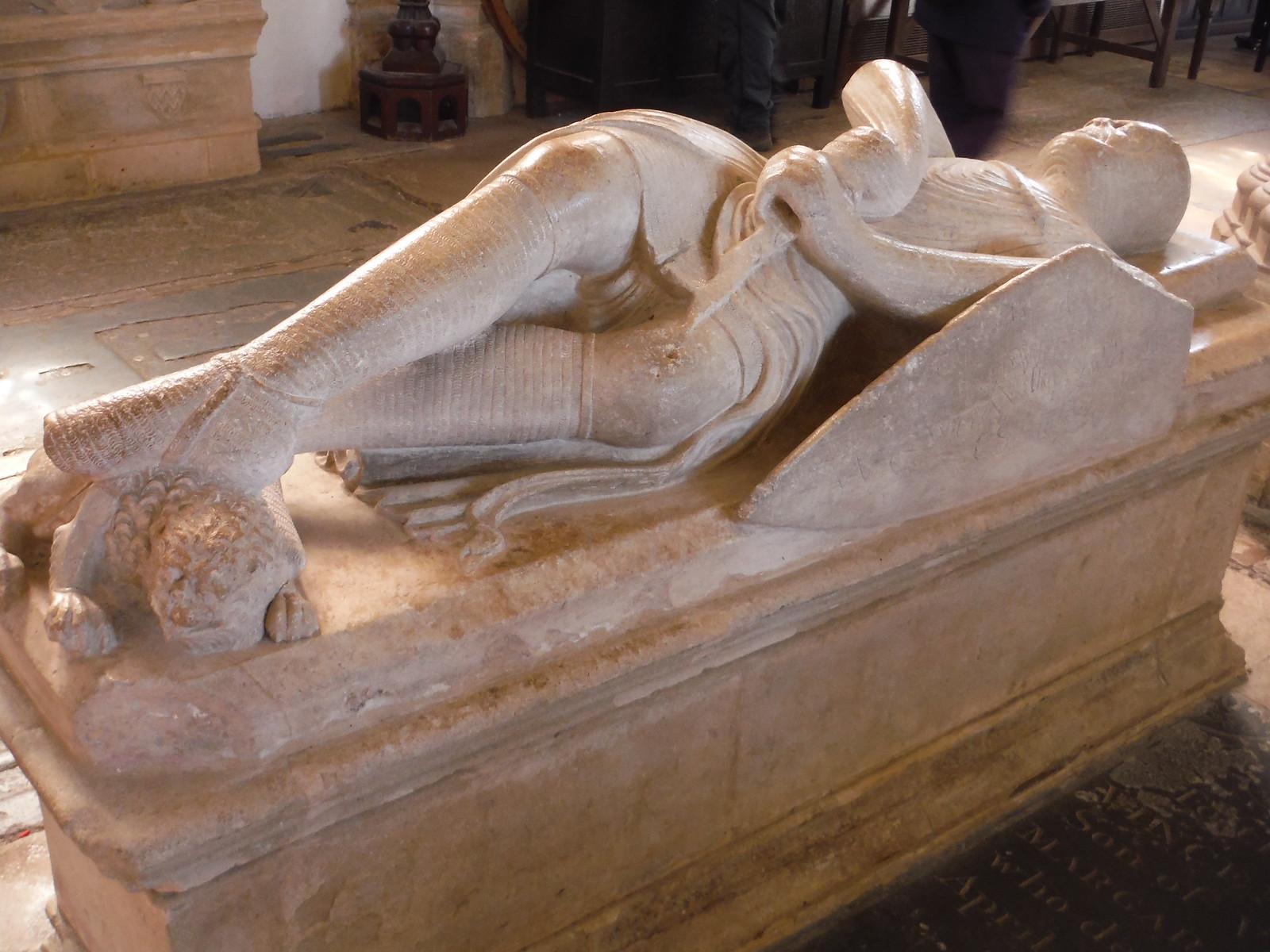 Cross-Legged Knight (William de Valence) in Chain Mail Effigy, Shrine Chapel, Dorchester Abbey SWC Walk 44 - Didcot Circular