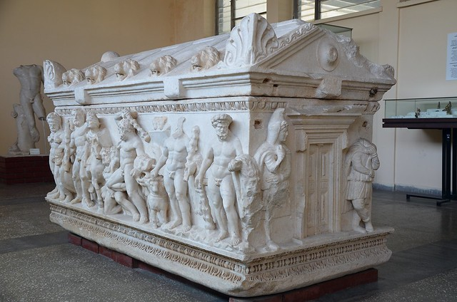 The Hercules Sarcophagus depicting the Twelve Labors of Hercules, 150-160 AD, Kayseri Archaeological Museum, Turkey