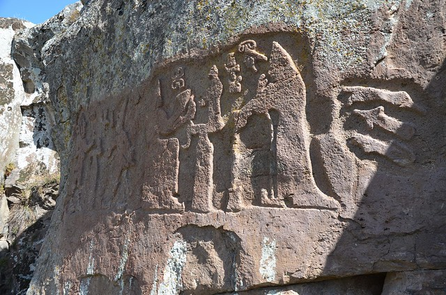 Fraktin Hittite rock relief, mid-13th century BC, district of Kayseri, Turkey