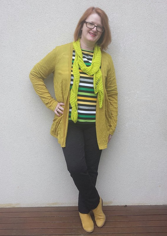 Style Arc Maddison top in striped knit from Rathdowne Fabrics