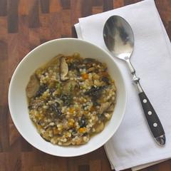 mushroom & barley 'risotto'