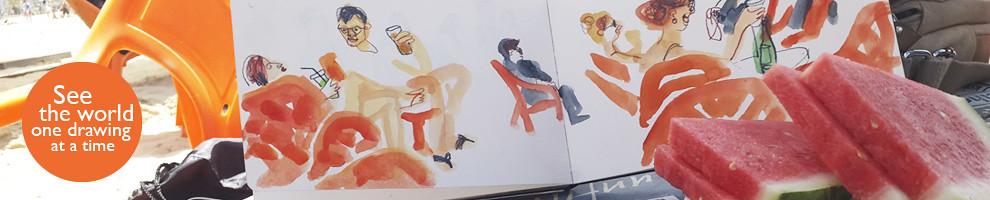 Sketching in Tel Aviv
