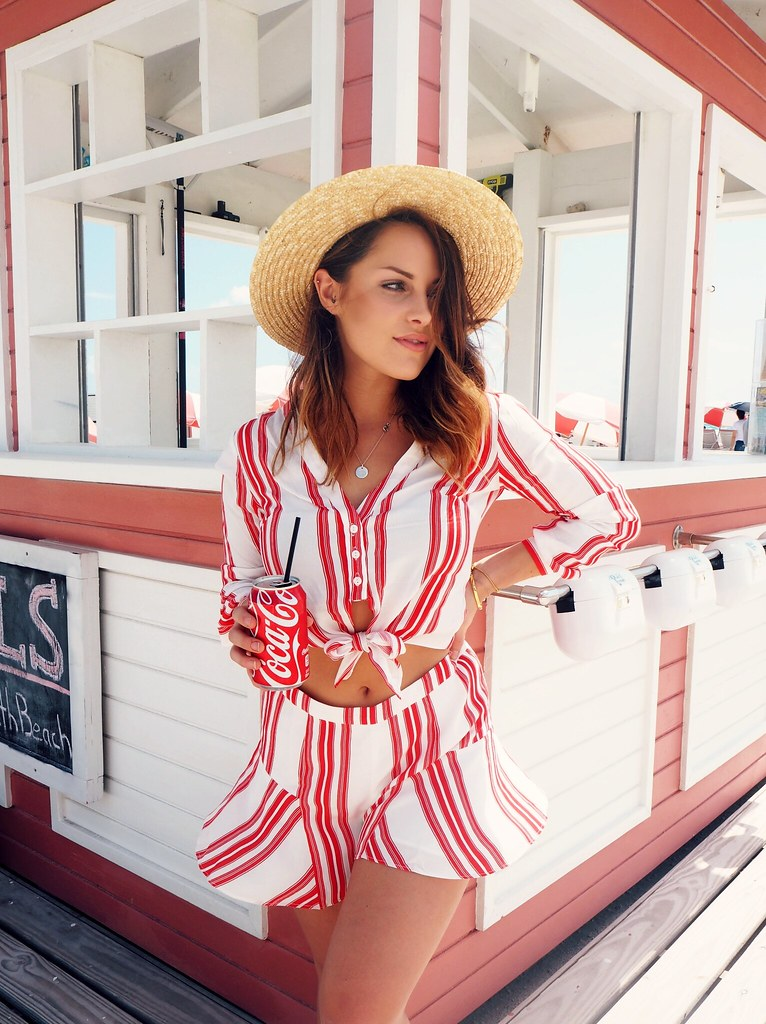 The Little Miami Revolve Stripe two piece