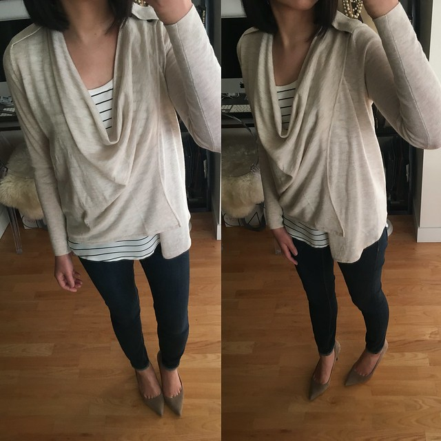 The Limited Asymmetrical Drape Front Cardigan