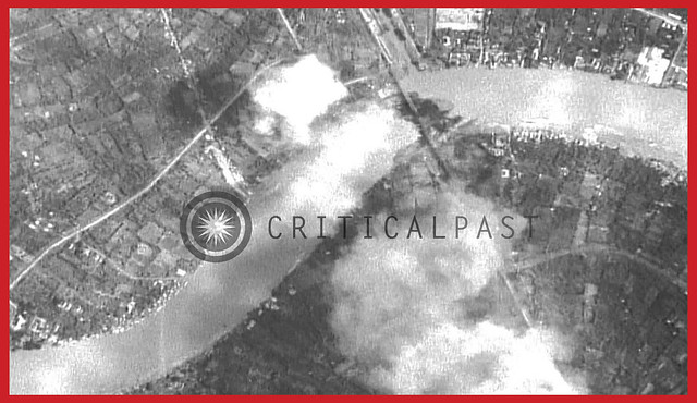 Bombing of Rama VI bridge in Bangkok, Siam by United States B-24 bomber aircraft - 1944, December 14