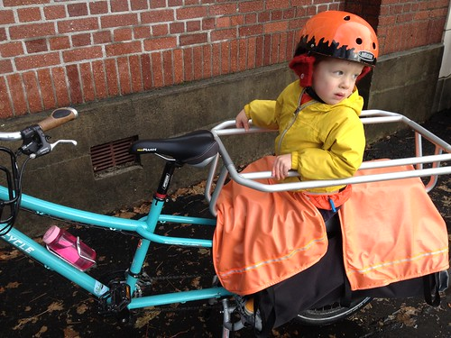 Cargo Bike Blankets in Use