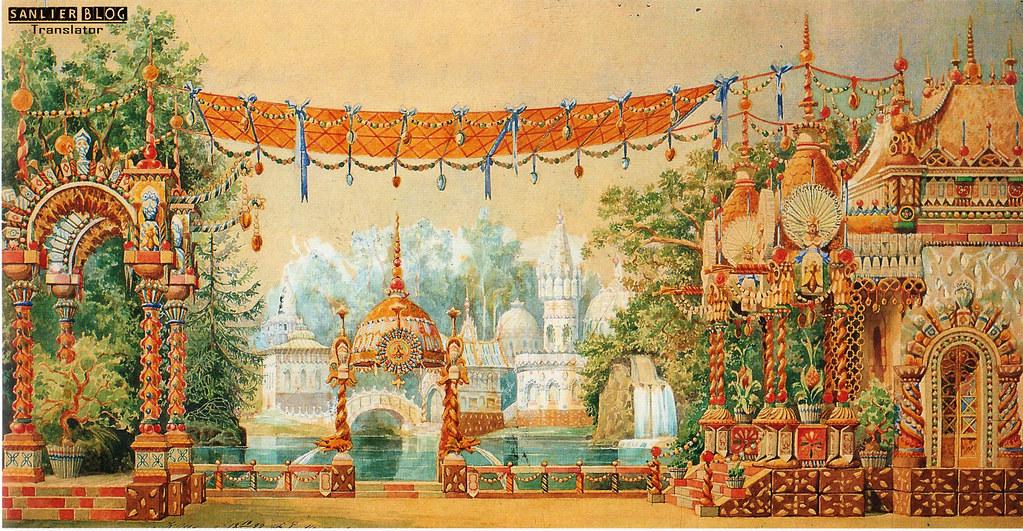 19世纪芭蕾剧舞台设计09