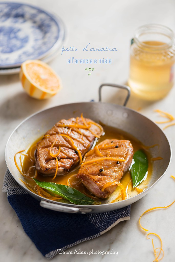 magret de canard à l'orange et miel