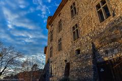 le château le soir