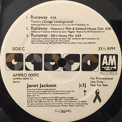 JANET JACKSON:RUNAWAY(LABEL SIDE-C)