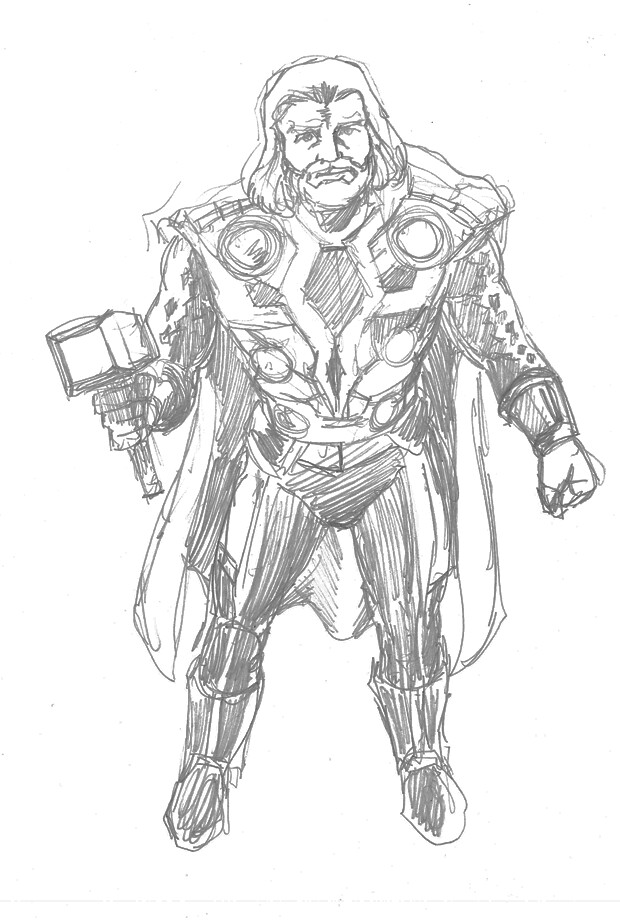 Thor - Pencil Test 1