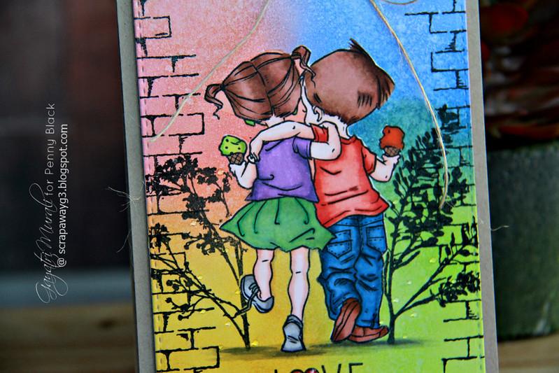 Love card closeup