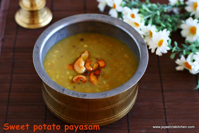 sweet potato- payasam