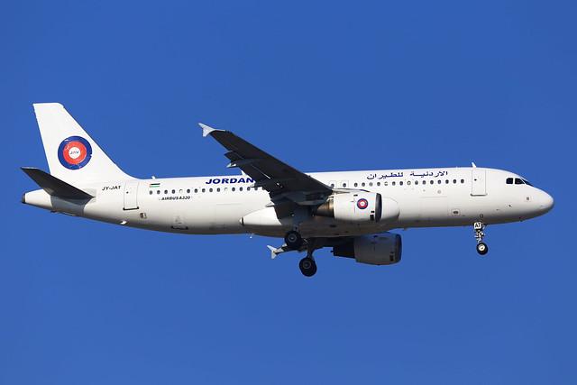 JAV A320 JY-JAT