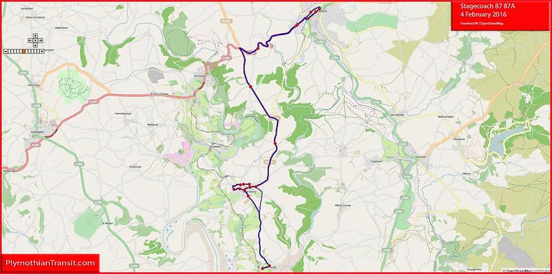 Stagecoach Devon Route-87